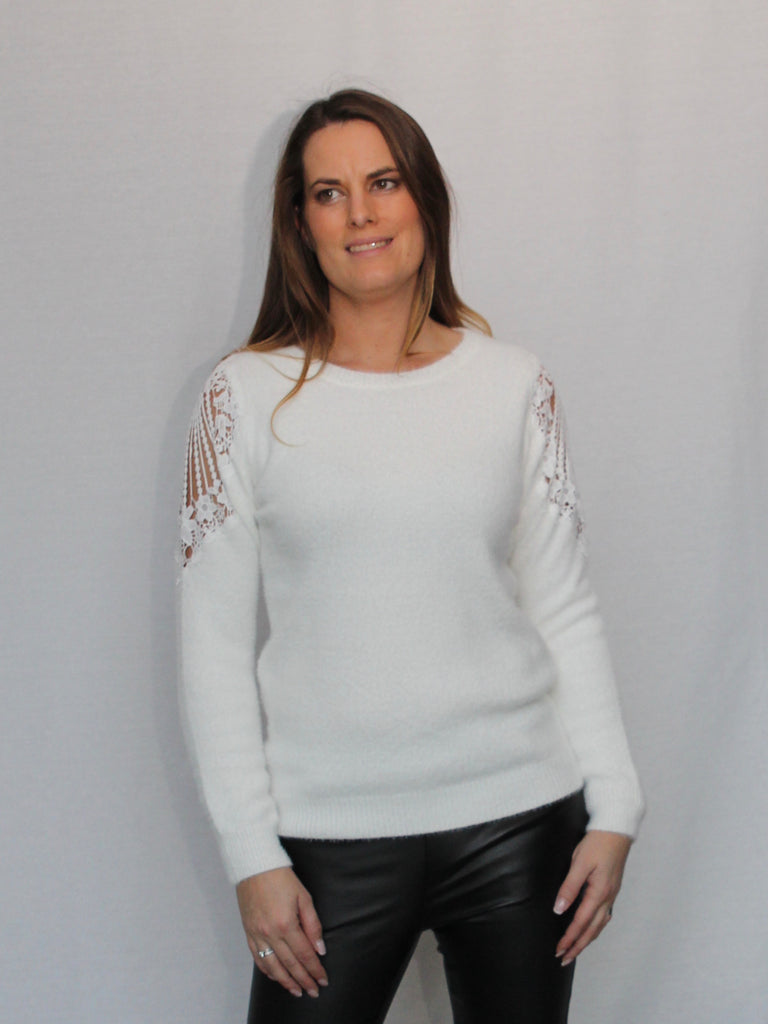 Jackie Sweater White