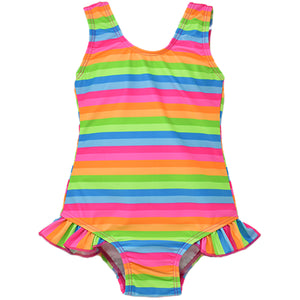 (NEW) UPF 50 Delaney Hip Ruffle Swimsuit