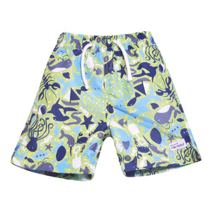 UPF 50+ Wesley Swim Trunks with Mesh Liner (100% Polyester)