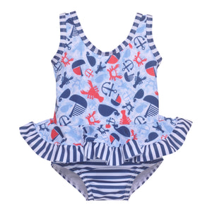 UPF 50+ Stella Infant Ruffle Swimsuit