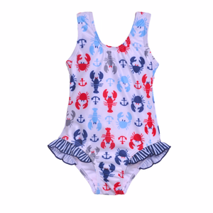 UPF 50+ Delaney Hip Ruffle Swimsuit (Recycled)