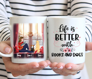 Step by step instruction to have a personalized mug for Dog's mom!