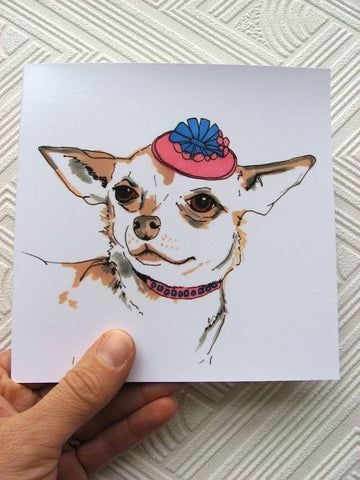 Puppy printed greeting card