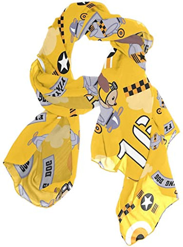 Puppy printed scarf