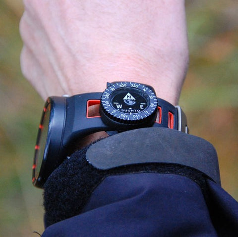 Watches with compass attached