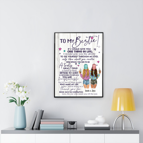 To my Bestie - Personalized Canvas