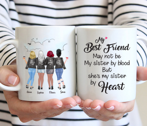 Personalized Four Best Friends Mug - My Best Friend