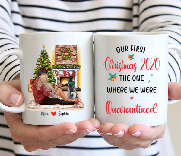 Xmas Couple Personalised Mug - Our First Christmas 2020