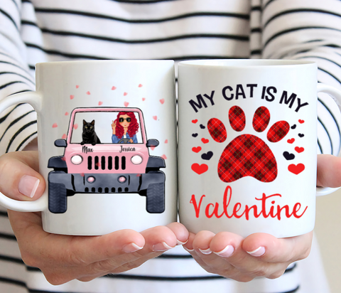 Personalized Cat Mug - My Cat Is My Valentine