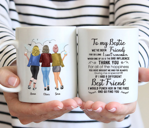 Personalized 3 Girls Best Friends- To My Bestie  We've Been Friends For So Long