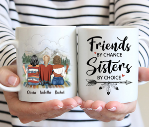Boho Hippie Three Girls - Friends By Chance Sisters By Choice