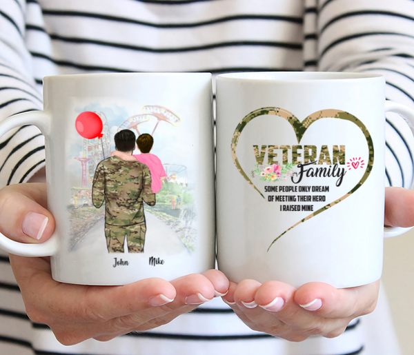 Personalised Dad Mug - Veteran Family