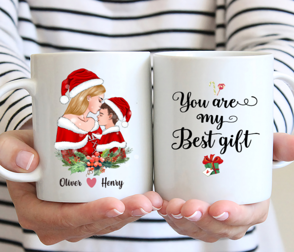 Mother And Son - You Are My Best Gift - Personalised Mug