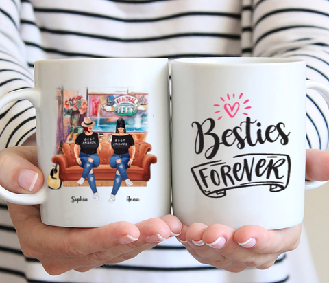 Curvy Friends - Bestie Forever - Personalized Mug
