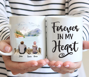 Couple And Cat- Forever In My Heart- Customized Mug