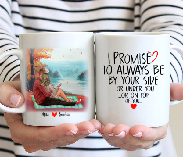 Couple Personalised Mug - I Promise To Always Be By Your Side