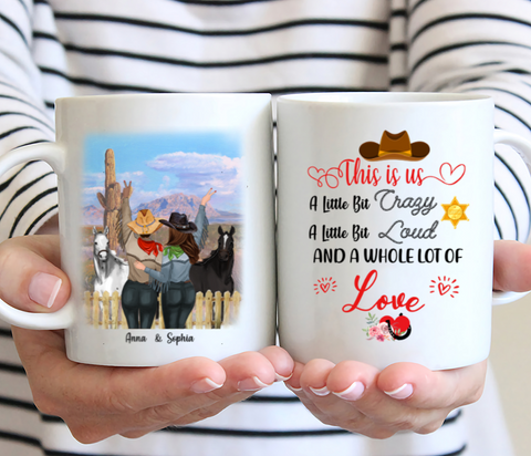 Personalized Mug - This Is Us A Little Bit Crazy A Little Bit Loud And A Whole Lot Of Love