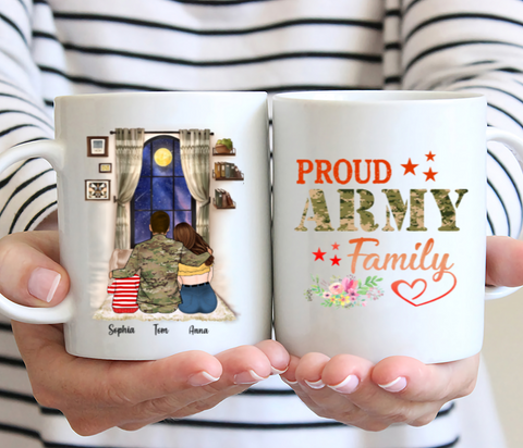 Personalised Family Mug - Proud Army Family