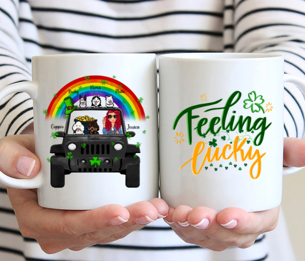 Personalised Dog & Patrick Day Mug - Feeling Lucky
