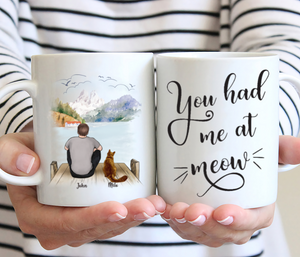 Man And Cats - You Had Me At Meow - Personalised  Cat Mug