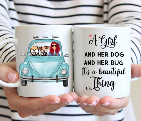 Dog Lady & Her Jeep - A Girl And Her Dog And Her Bug It's A Beautiful Thing