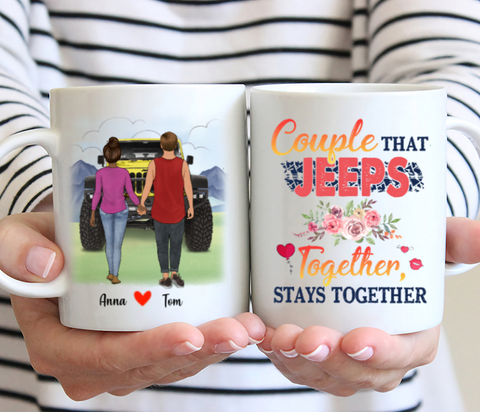 Customized Mug - Couple That Jeeps Together Stays Together