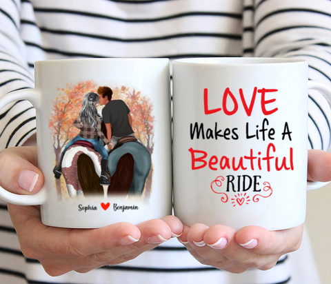 Personalized Mug - Love Makes Life A Beautiful Ride