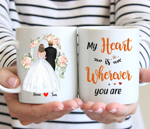 Wedding Personalised Mug - My Heart Is Wherever You Are