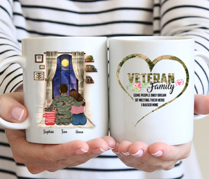 Veteran Family Personalised Marine Corps Mug - Veteran Family