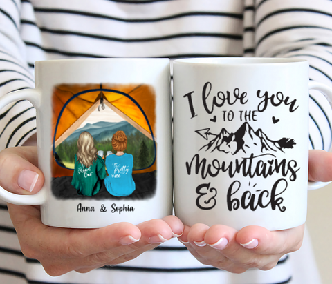 Personalized Camping Mug  - I Love You To The Mountains And Back