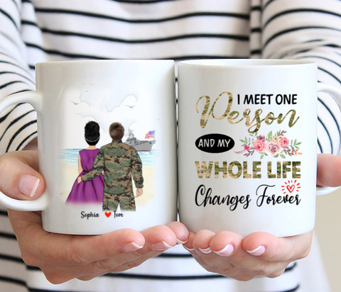 Personalised Marine Corps Mug - I meet one person