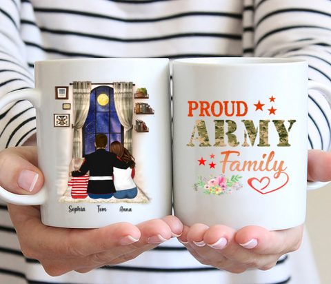 Veteran Family Personalised Mug - Proud Army Family