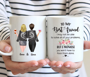 Personalized Two Girl Mug - To My Best Friend