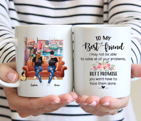 Curvy Friends - To My Best Friend - Personalized Mug