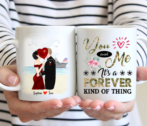 Personalised Couple Veteran Mug - You and me