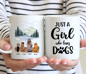 Girl And Dogs - Just A Girl Who Loves Dogs - Personalized Dog Mug