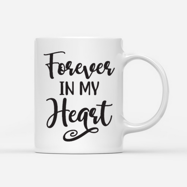 Couple And Cat And Dog- Forever In My Heart- Customized Mug