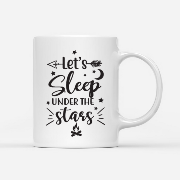 Personalized Camping Mug  - Let's Sleep Under The Stars