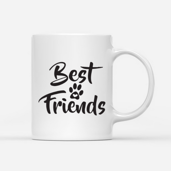 Girl And Dogs - Best Friend - Personalized Dog Mug