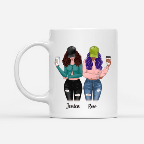 Personalized Two Girls Mug - I'm Pretty Sure We More Than Best Friends. We Are Like A Really Small Gang