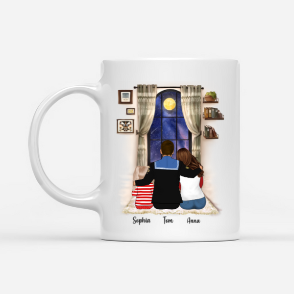 Veteran Family Personalised Mug - Behind a very strong soldier