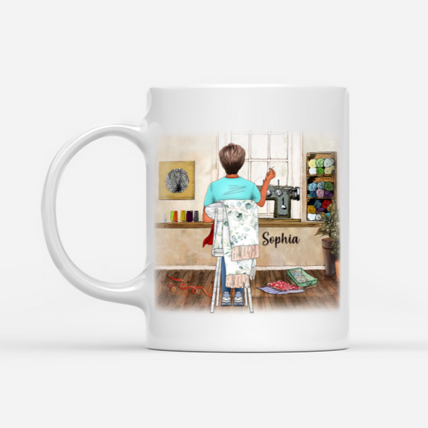 Love Sewing Personalized Mug - I Sew But My Favorite Hobby Is Collecting Fabric