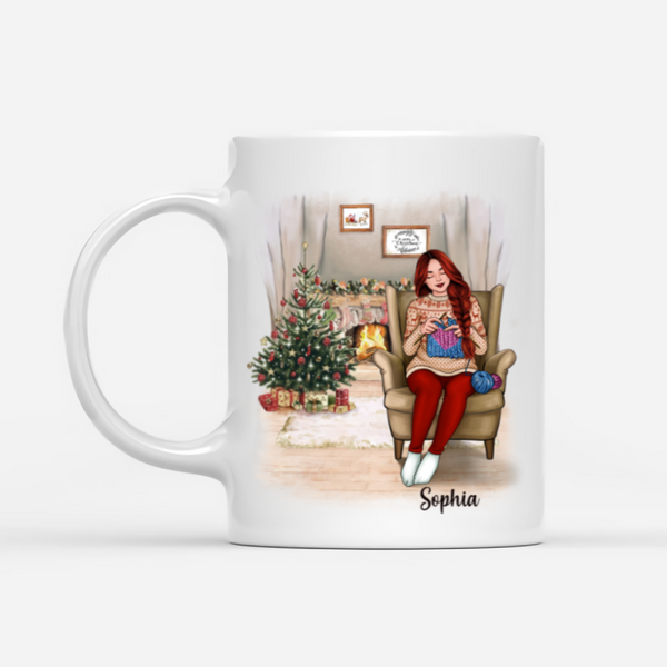 Personalized Knitting Mug - Jesus Is My Savior Crocheting Is My Therapy