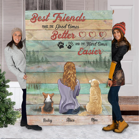 Personalized Fleece Blanket - Best Friends Make The Good Times Better