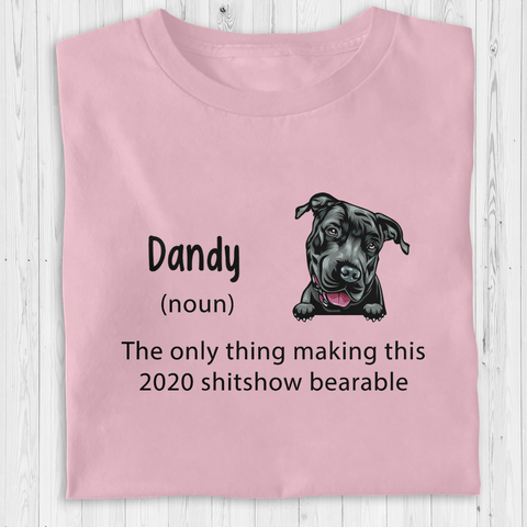 Personalized Dog T-Shirt - The only thing making this 2020 shitshow bearable
