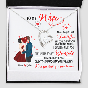 Personalised Forever Love Necklace - To My Wife I Love You