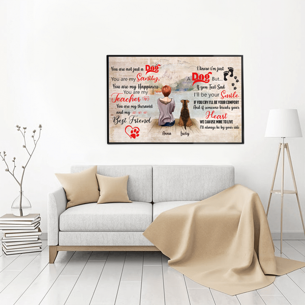 Personalized Girl And Dog Poster