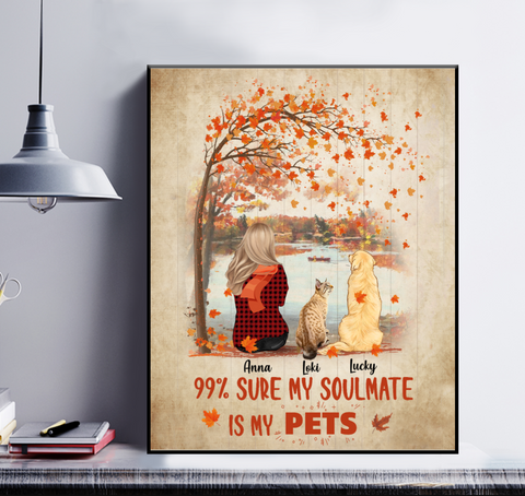 Personalized Poster - 99% Sure My Soulmate Is My Pets