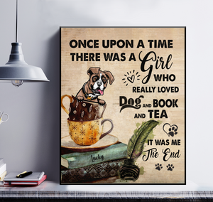 Personalized Dog & Tea Poster - Once Upon A Time