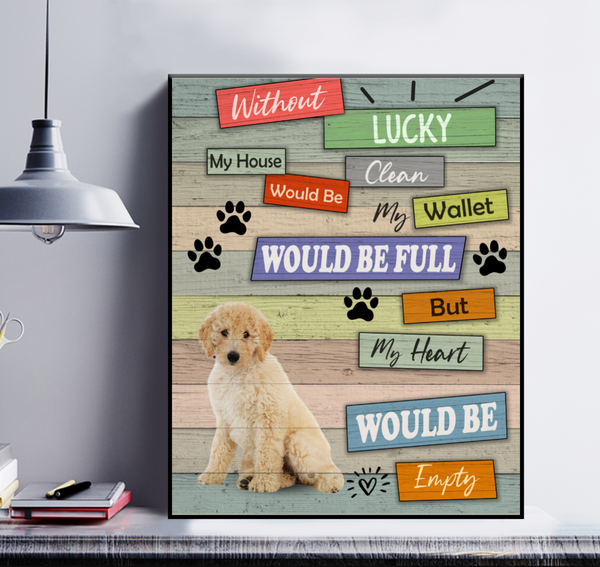 Personalized Dog Poster - Without My Pet My House Would Clean My Wallet Would Be Full